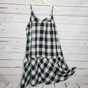 Roomy 2X plaid dress by True Craft